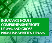 Insurance House Comprehensive Profit Up 29% And Gross Premiums Written Up 65%